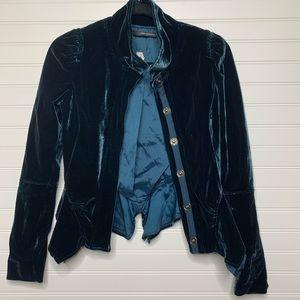 Atos Lombardini made in Italy velvet boho jacket